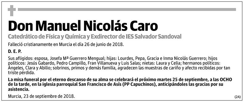 Manuel Nicolás Caro