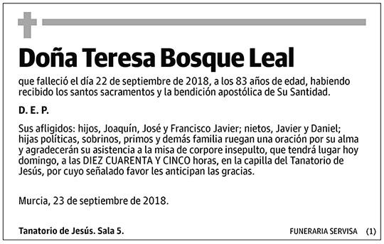 Teresa Bosque Leal