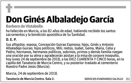 Ginés Albaladejo García