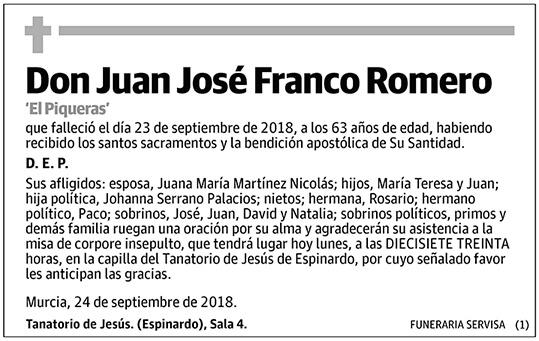 Juan José Franco Romero