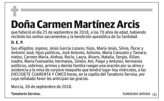 Carmen Martínez Arcis