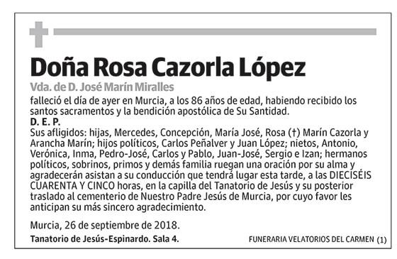 Rosa Cazorla López