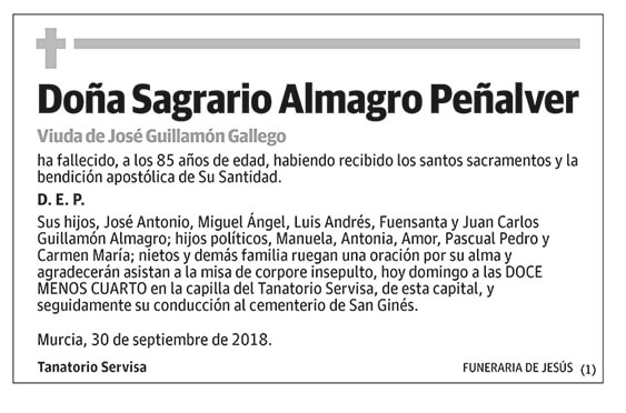 Sagrario Almagro Peñalver