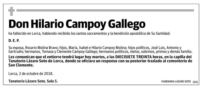 Hilario Campoy Gallego