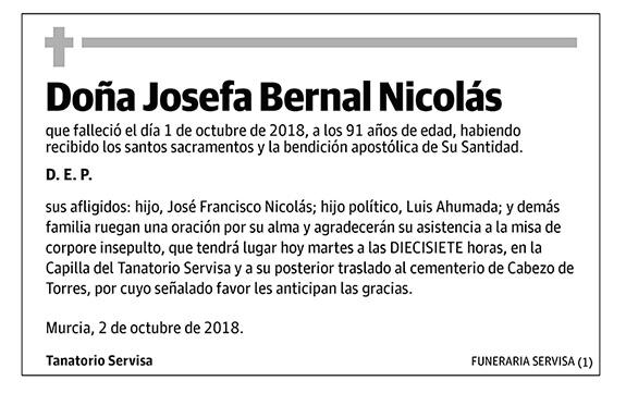 Josefa Bernal Nicolás