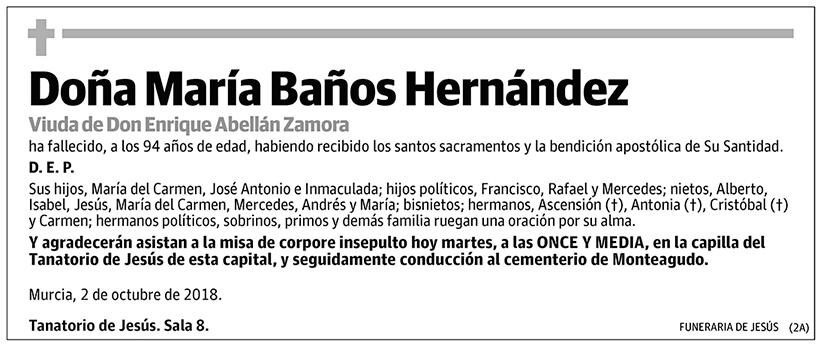 María Baños Hernández