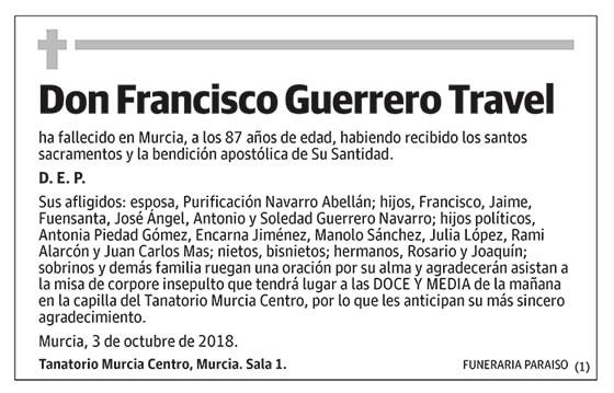 Francisco Guerrero Travel