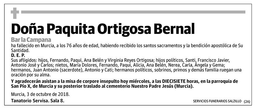 Paquita Ortigosa Bernal
