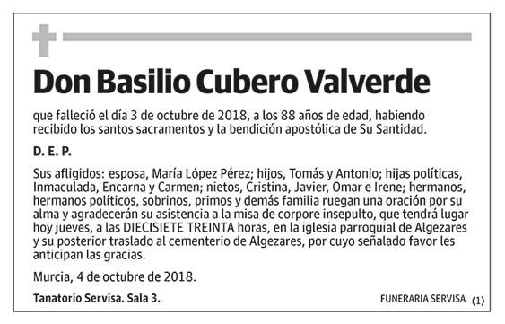 Basilio Cubero Valverde
