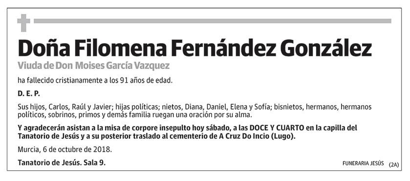 Filomena Fernández González