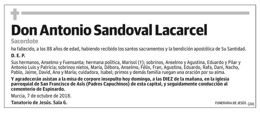 Antonio Sandoval Lacarcel