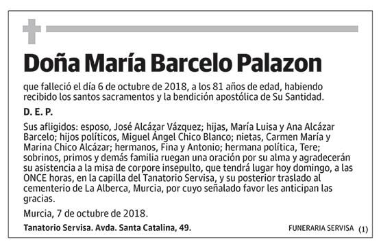 María Barcelo Palazon