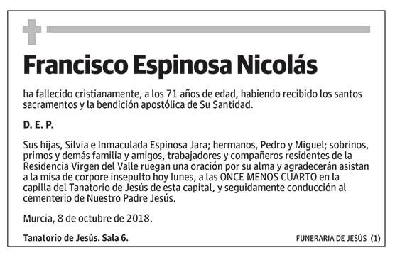 Francisco Espinosa Nicolás