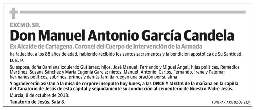 Manuel Antonio García Candela