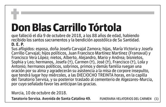 Blas Carrillo Tórtola