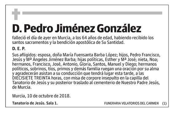 Pedor Jiménez González