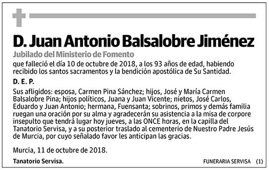 Juan Antonio Balsalobre Jiménez