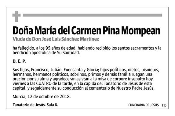 María del Carmen Pina Mompean