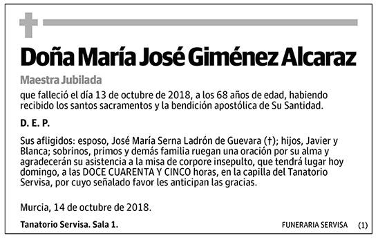 María José Giménez Alcaraz