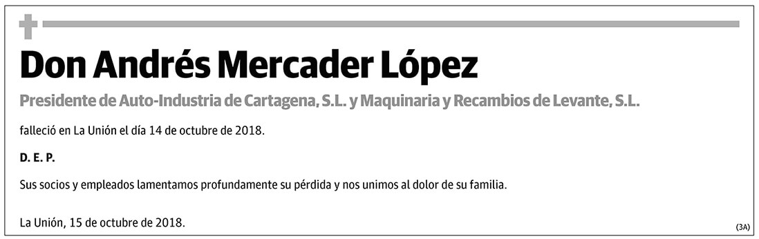 Andrés Mercader López