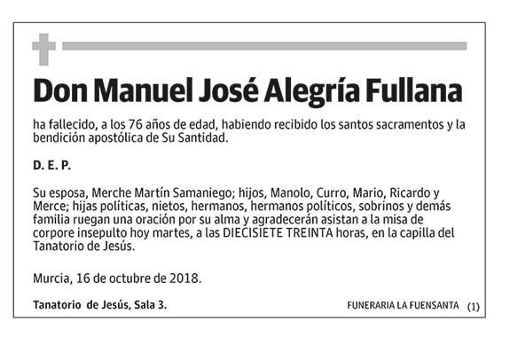 Manuel José Alegría Fullana