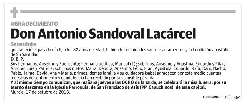 Antonio Sandoval Lacárcel