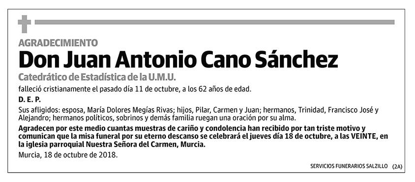 Juan Antonio Cano Sánchez