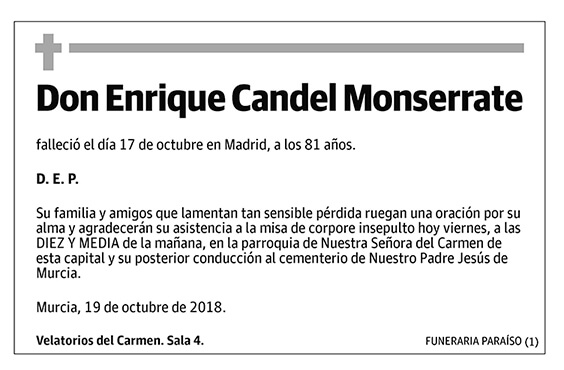 Enrique Candel Monserrate