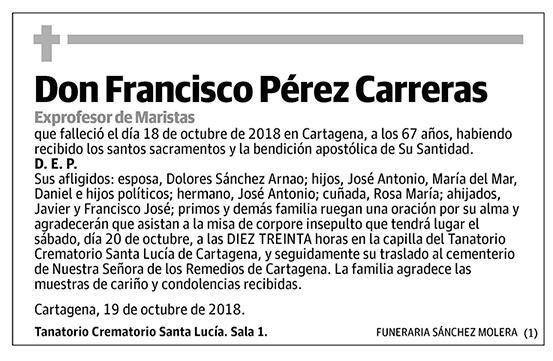 Francisco Pérez Carreras