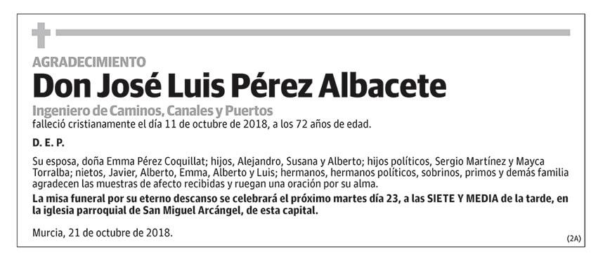 José Luis Pérez Albacete