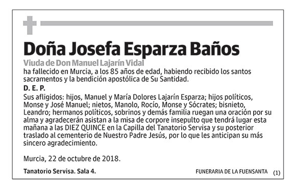 Josefa Esparza Baños