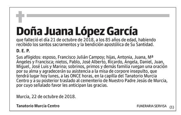 Juana López García