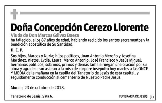 Concepción Cerezo Llorente