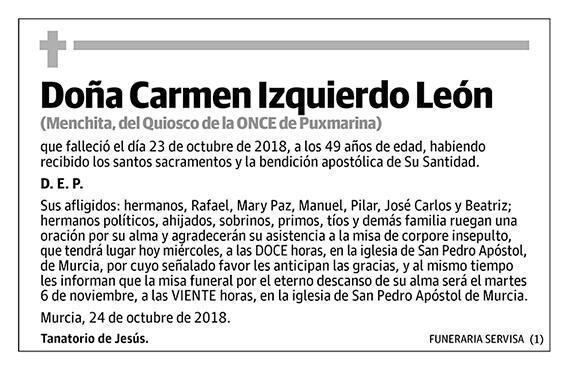 Carmen Izquierdo León