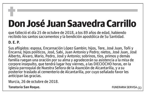 José Juan Saavedra Carrillo