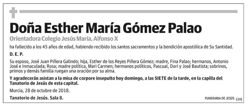 Esther María Gómez Palao