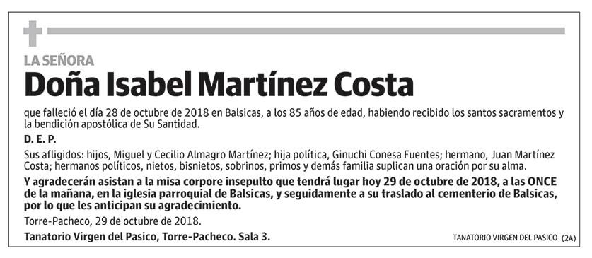 Isabel Martínez Costa