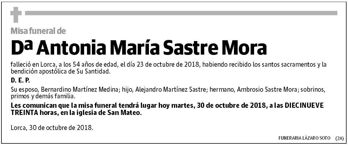 Antonia María Sastre Mora