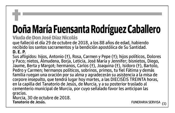 María Fuensanta Rodríguez Caballero
