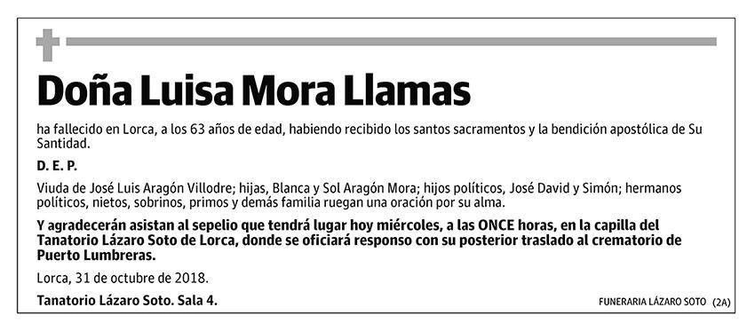 Luisa Mora Llamas
