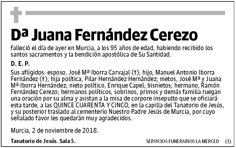 Juana Fernández Cerezo