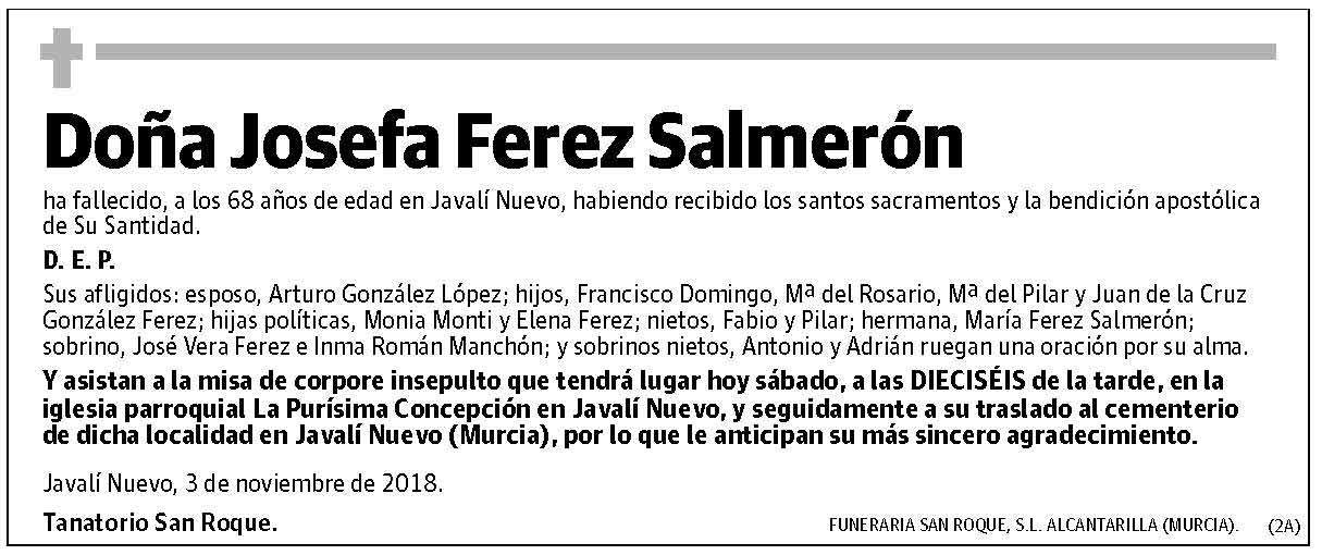 Josefa Ferez Salmerón