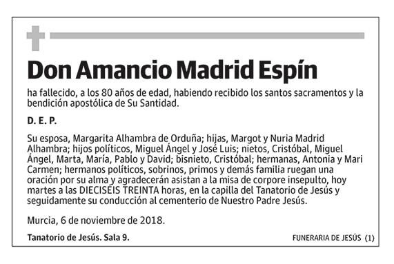 Amancio Madrid Espín