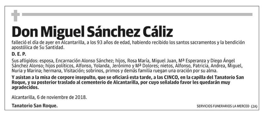 Miguel Sánchez Cáliz