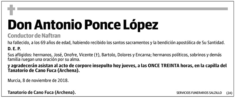 Antonio Ponce López