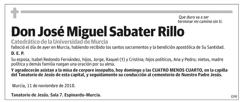 José Miguel Sabater Rillo