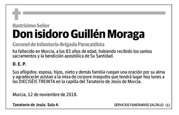 Isidoro Guillén Moraga