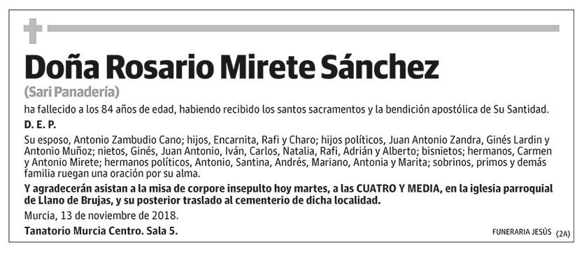 Rosario Mirete Sánchez