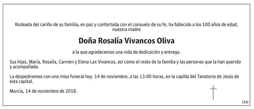 Rosalía Vivancos Oliva