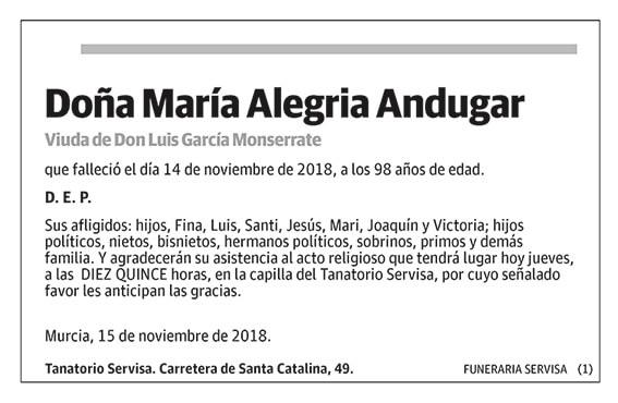 María Alegria Andugar